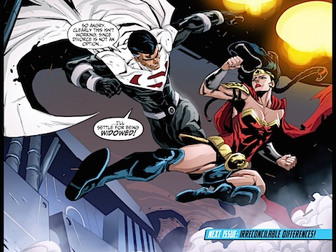 Wonder Woman and Lord Superman fight