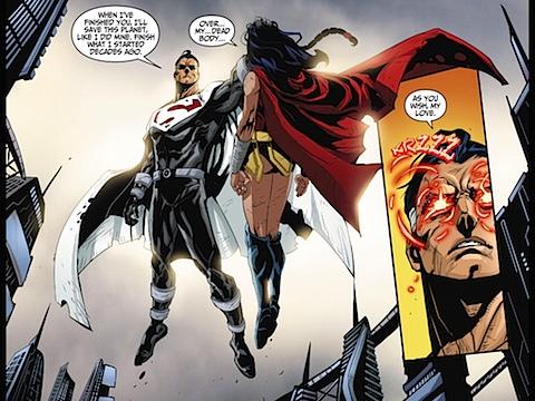Lord Superman beats up Wonder Woman