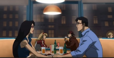 Clark and Diana in Justice League Throne of Atlantis