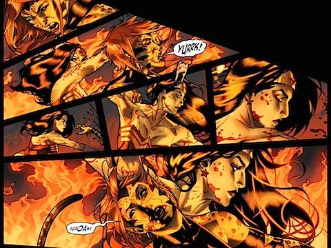 Diana beats up Cheetah