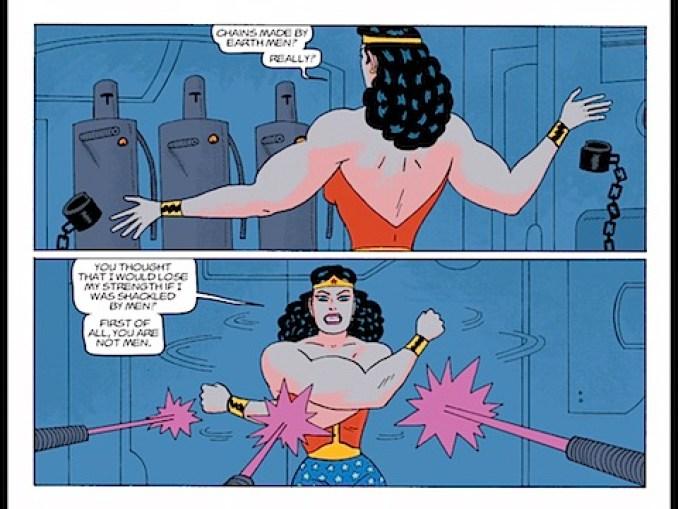 Wonder Woman breaks free