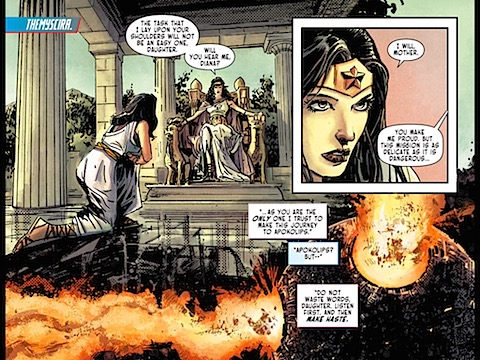 Wonder Woman is given a mission