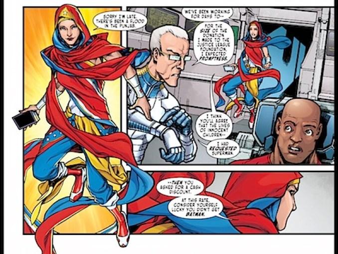 Wonder Woman in a hijab