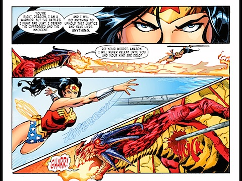 Diana slays the dragon