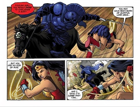 Wonder Woman and Ares fight
