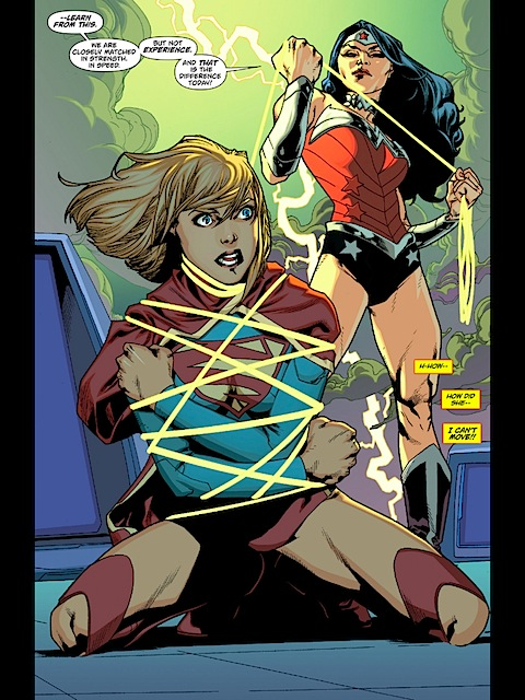 Supergirl is all tied up