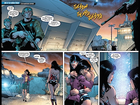 Lois arrives and meets Wonder Woman