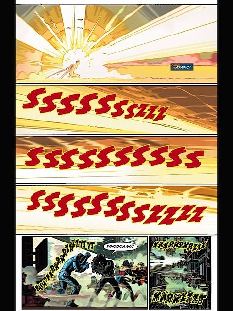 Superman flares up