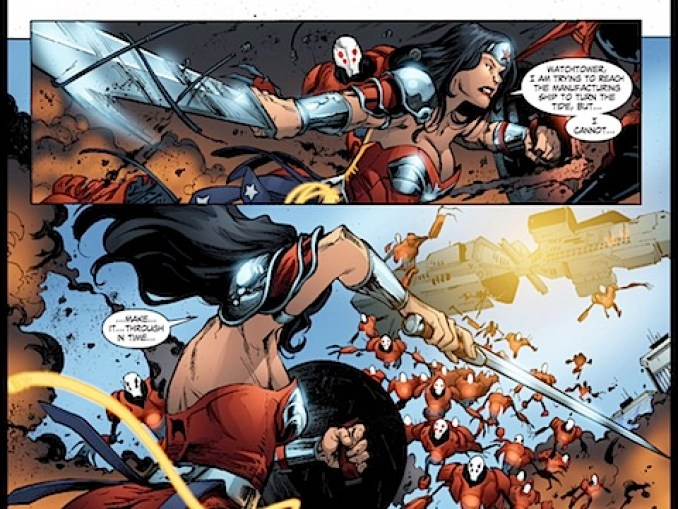 Diana fights Manhunters