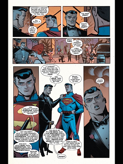 Superman notices Diana's missing