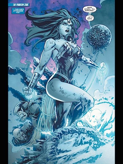 Wonder Woman defeats Mongul