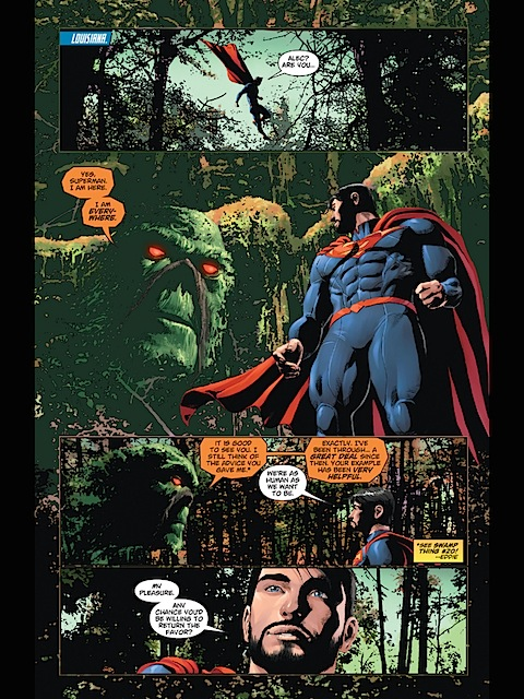 Superman meets with Swamp Thing