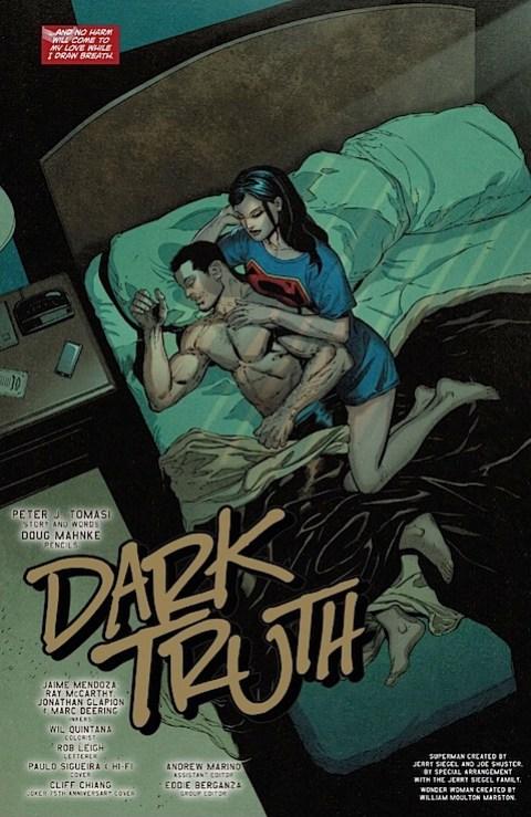 Superman/Wonder Woman in bed