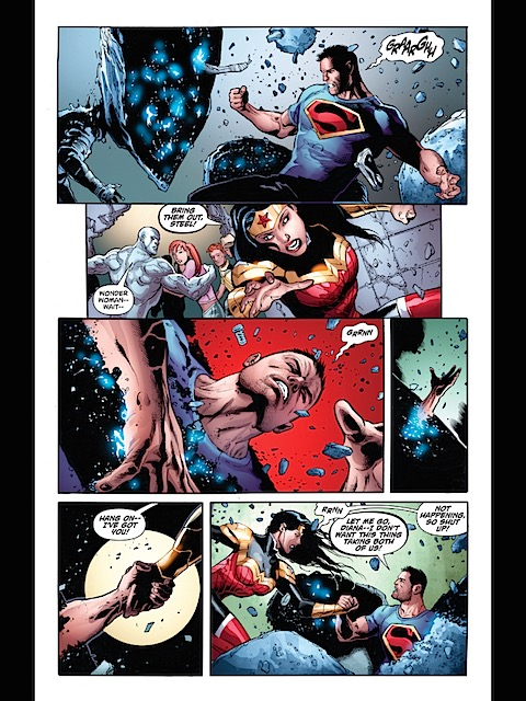 Diana saves Clark