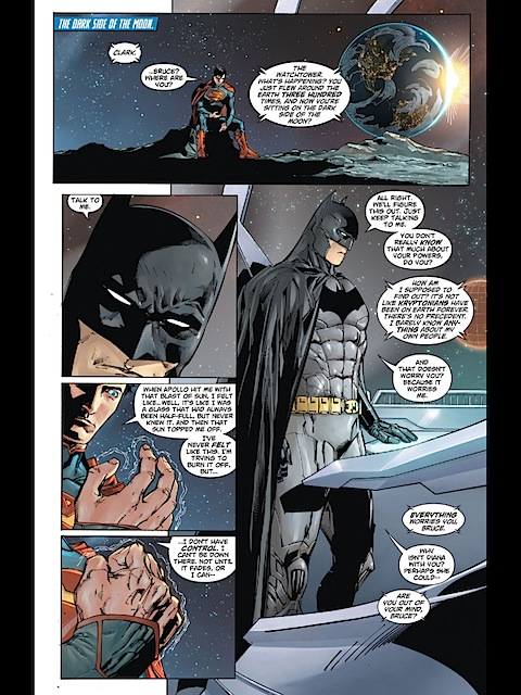 Batman gives Superman relationship advice