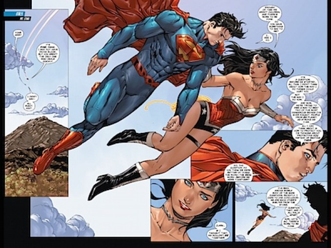 Superman and Wonder Woman have a grown-up conversation