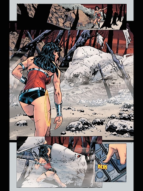 Wonder Woman fires a missile