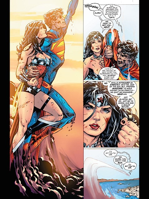 Wonder Woman and Superman fly high