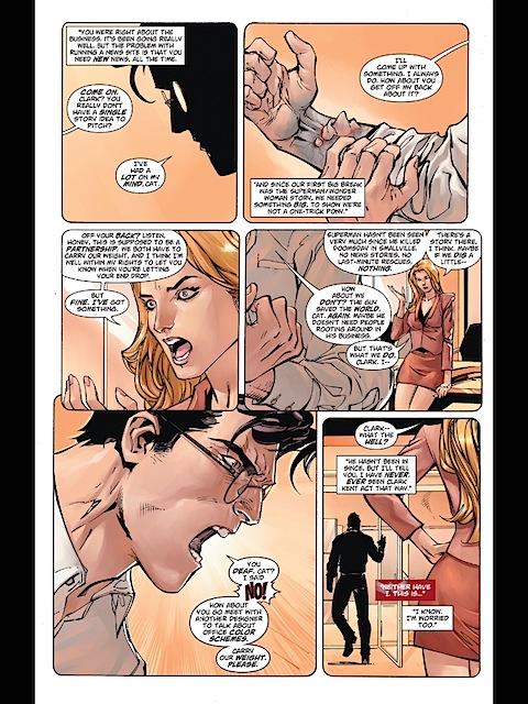 Clark shouts at Cat