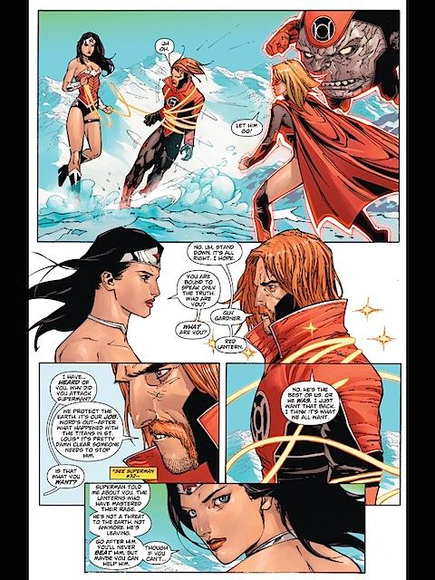 Wonder Woman is nicer to the Red Lanterns