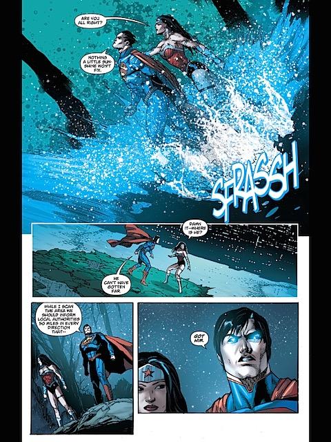 Wonder Woman rescues Superman
