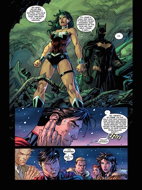 Wonder Woman supports Superman