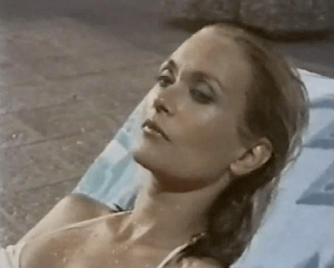 Alexandra Bastedo as Helene in The Aphrodite Inheritance