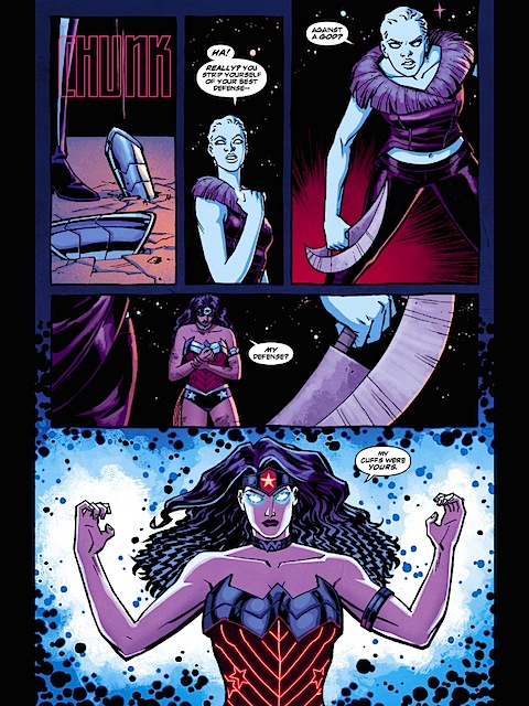 Wonder Woman takes off her bracers