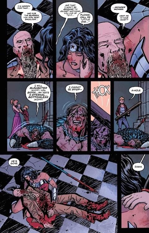 Wonder Woman #23 Ares dead