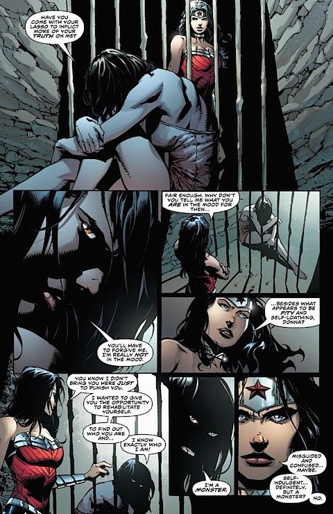 Wonder Woman visits Donna Troy in prison