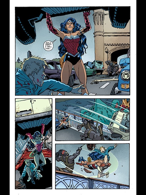 Wonder Woman dives