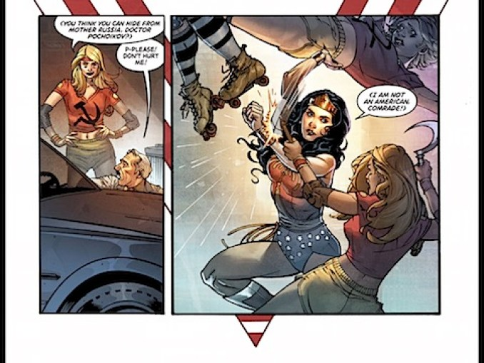 Wonder Woman fights Mother Russia