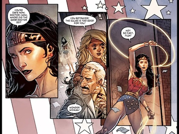 Wonder Woman saves the scientist