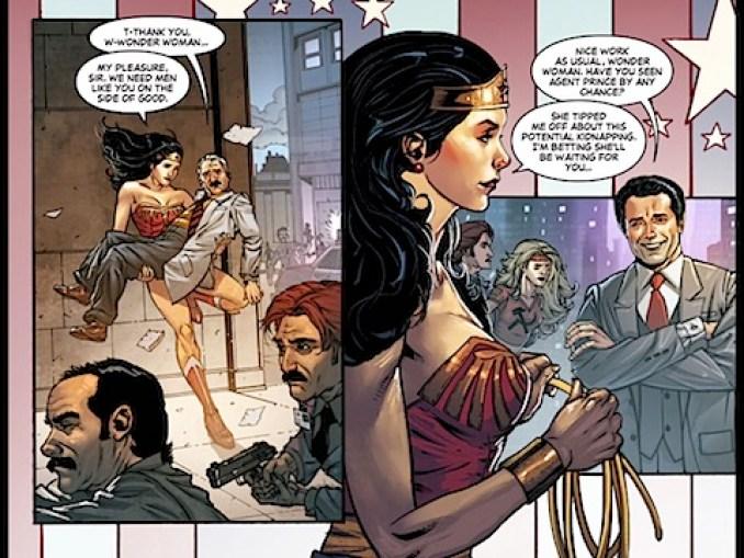 Wonder Woman lands