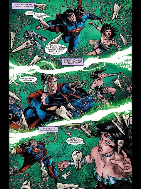 Wonder Woman flying in Justice League Dark