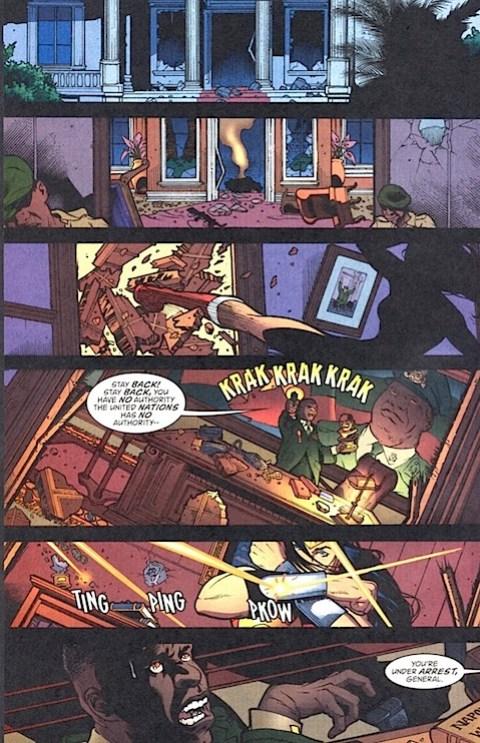Wonder Woman arrests the general