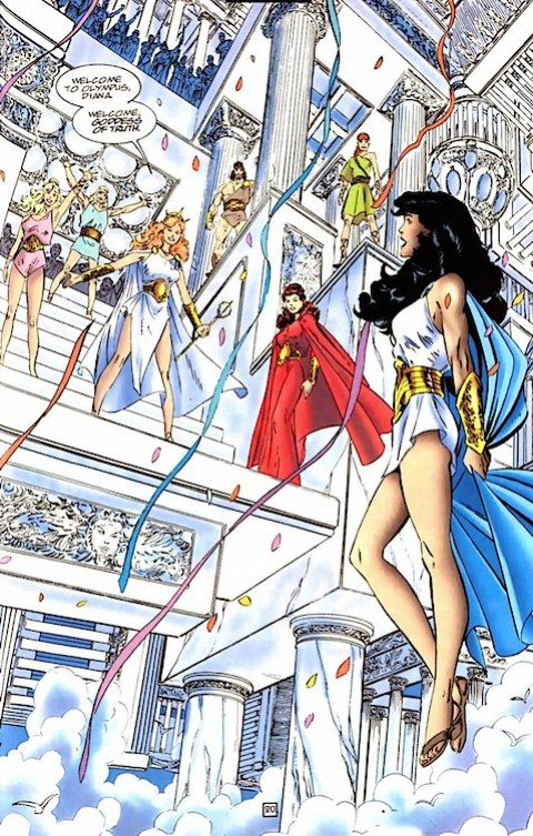 Wonder Woman is the goddess of truth