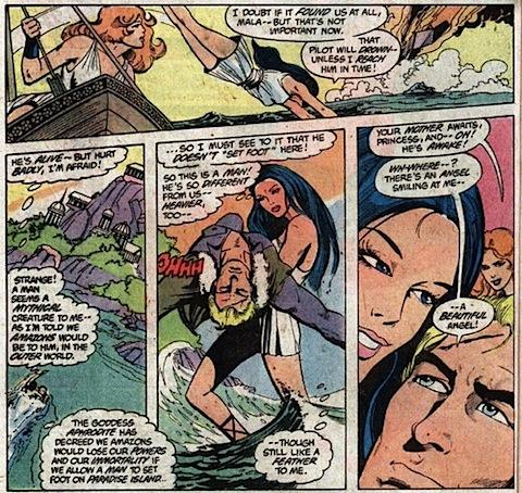 Diana rescues Steve Trevor