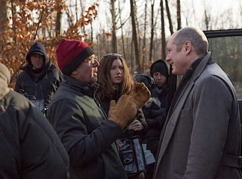 James Spadaer and Andrew McCarthy behind the scenes of The Blacklist