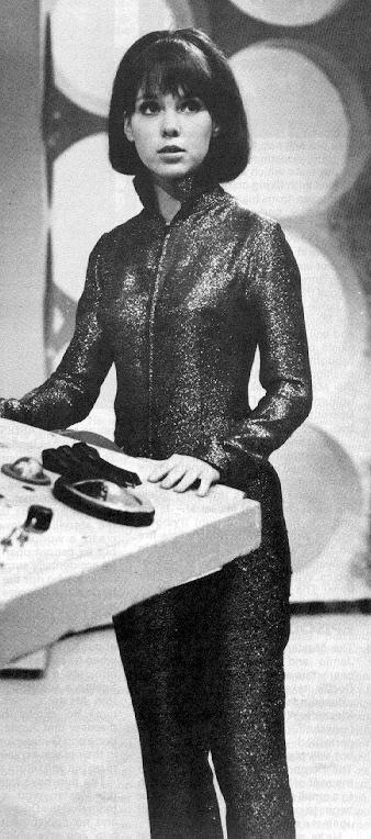 Wendy Padbury in a catsuit