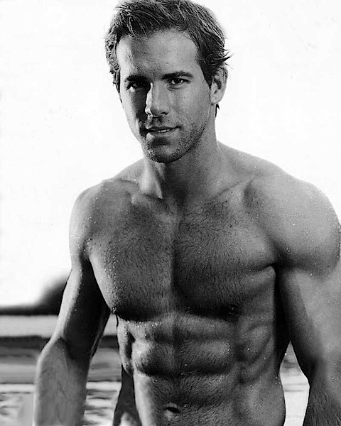 Ryan Reynolds without his top on