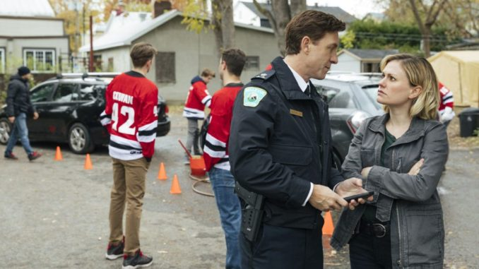 Shawn Doyle and Anna Paquin in CBC's Bellevue