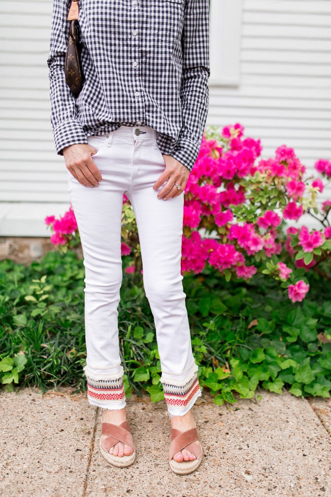 White embroidered jeans-white mcguire jeans-dallas blogger