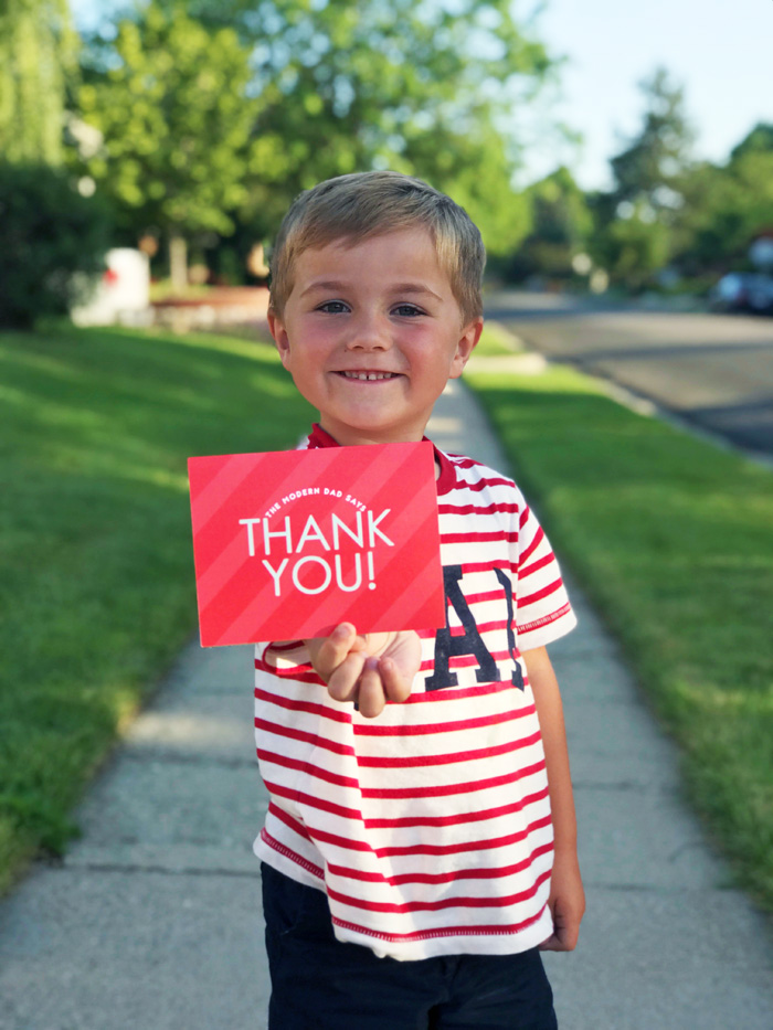 Custom Thank You Cards? Yes Please! with Basic Invite by The Modern Dad