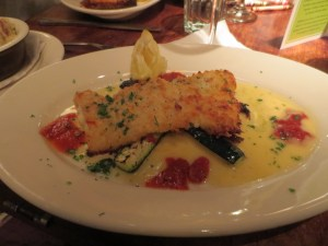 Parmesan crusted cod from Wildfire in Chicago