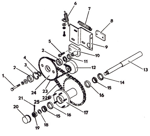 Final Drive Assembly, Model 1822K 1988- Grasshopper Mower
