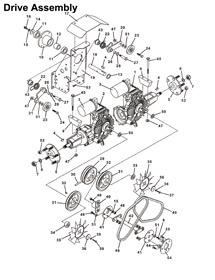 721D Grasshopper Front Mount Lawn Mower Parts 1995- The
