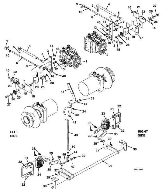 Drive Linkage Assembly 721G2 Grasshopper Mower, 2001- The