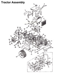 725 1990 Grasshopper Mower Diagram & Parts List