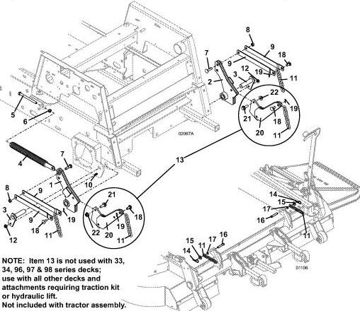 725K2 2003 Grasshopper Mower Diagrams & Parts